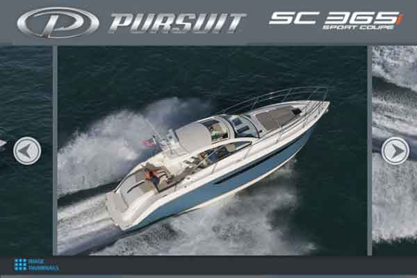 pursuit boats interactive product brochure